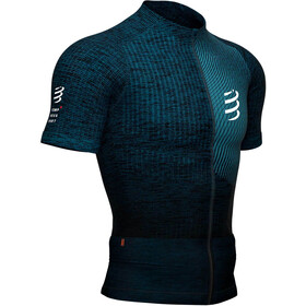 Compressport Trail Postural Top Manga Corta Hombre, blue/melange